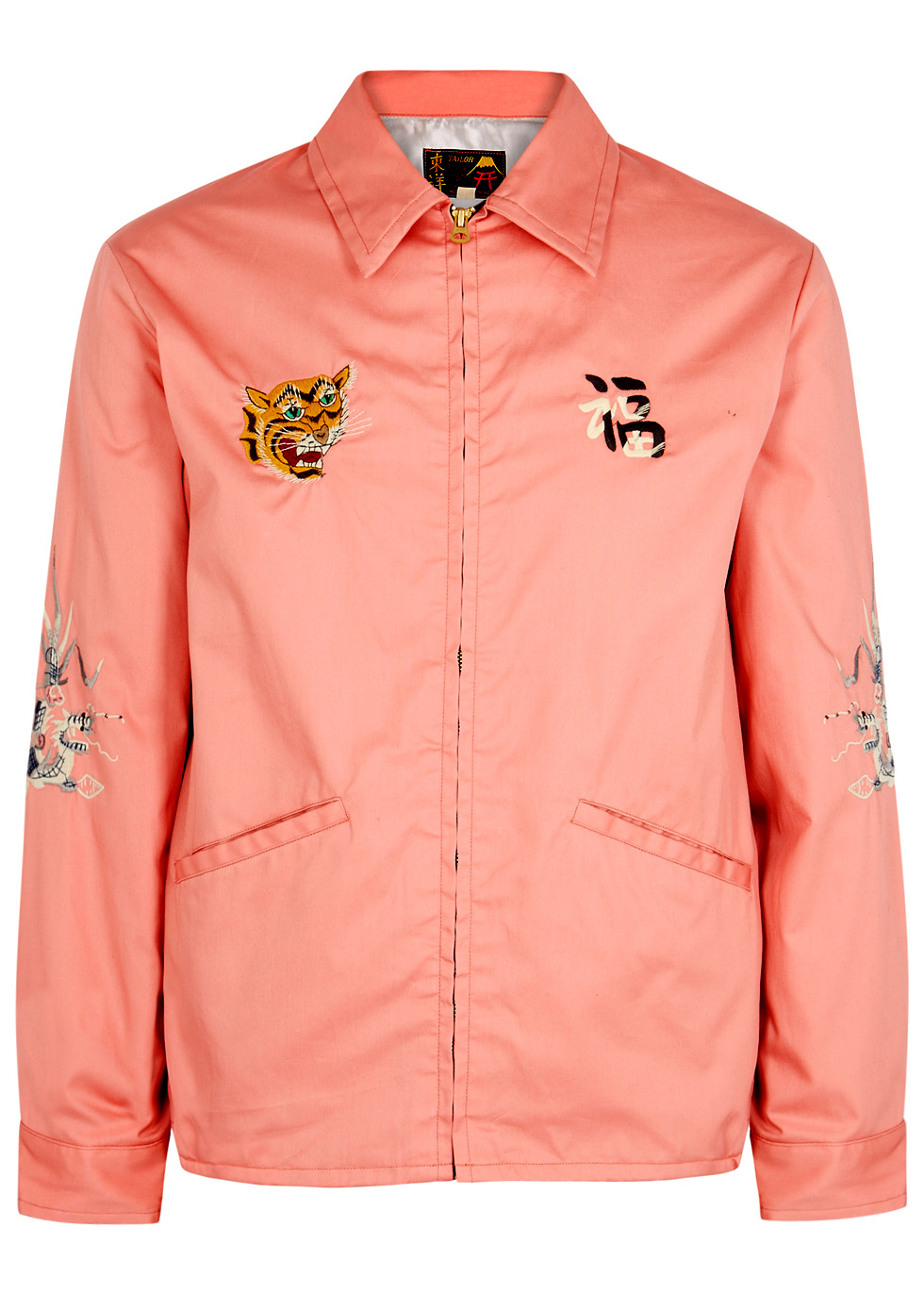 TAILOR TOYO PINK EMBROIDERED COTTON JACKET