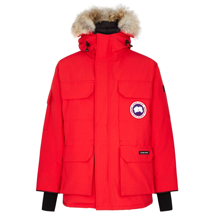 Canada Goose Expedition Red Fur-trimmed Parka