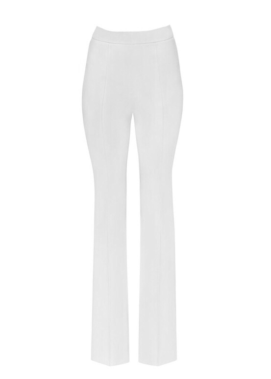 MIHANO MOMOSA IVORY HIGH WASTE TROUSERS