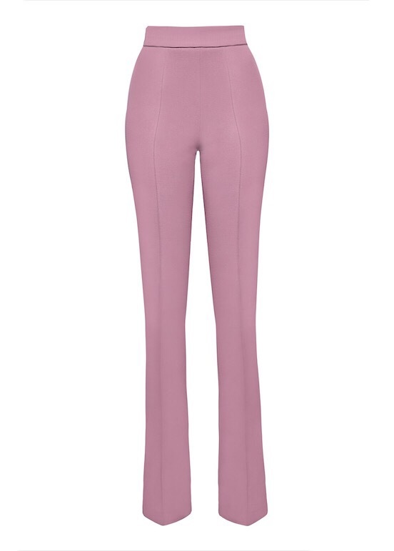 MIHANO MOMOSA SOFT PINK HIGH WAISTED TROUSERS