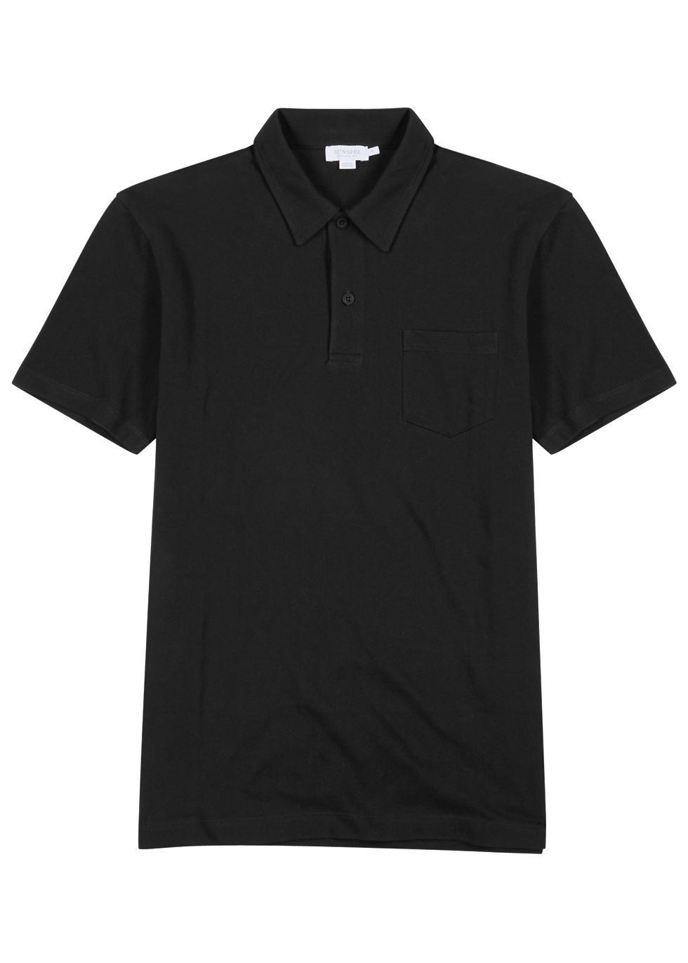 Riviera piqué cotton polo shirt