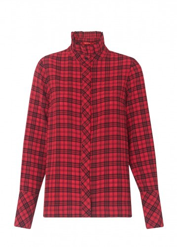 ELSIE FRILL COLLAR CHECK SHIRT