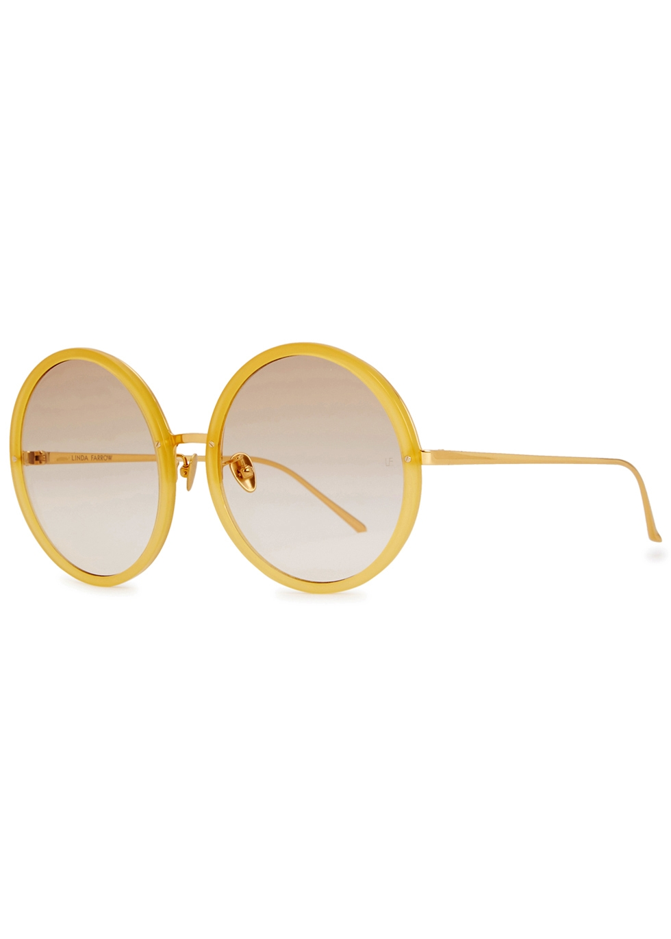 LINDA FARROW LUXE 457 18CT GOLD-PLATED OVERSIZED SUNGLASSES