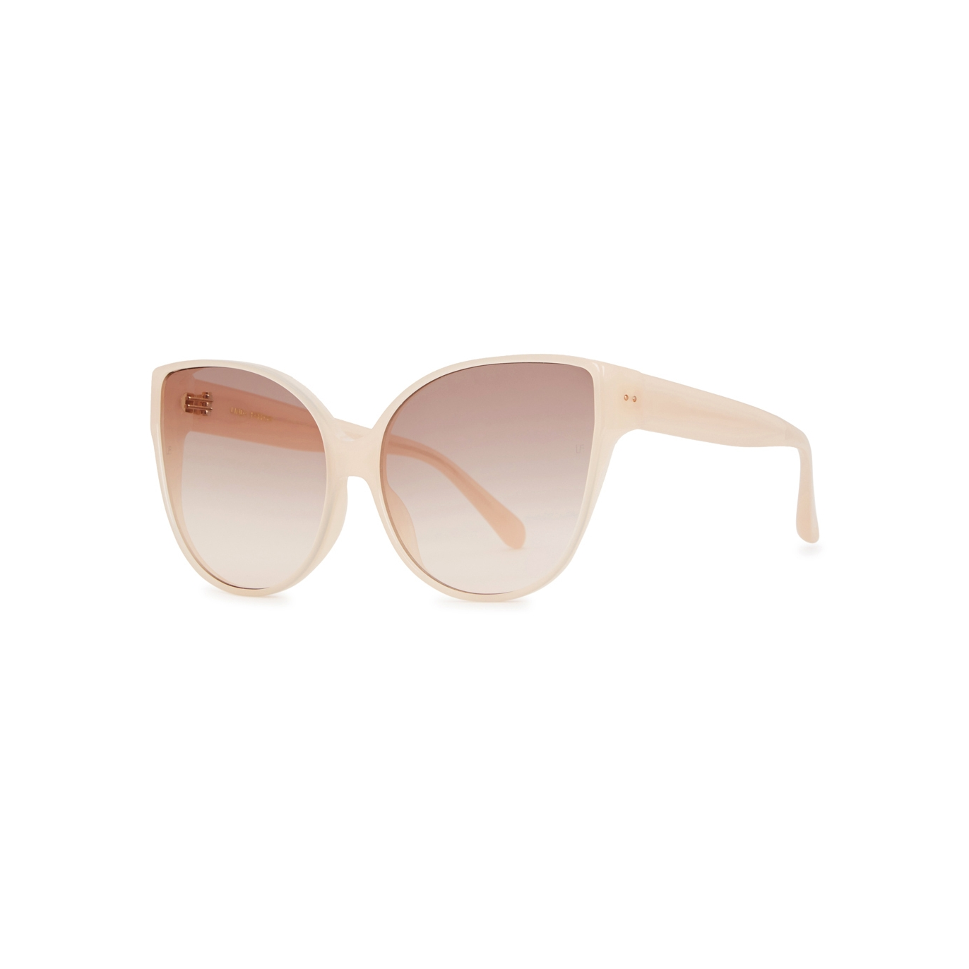 9902b5ade3f Linda Farrow Luxe 656 gold-plated cat-eye sunglasses - Harvey Nichols