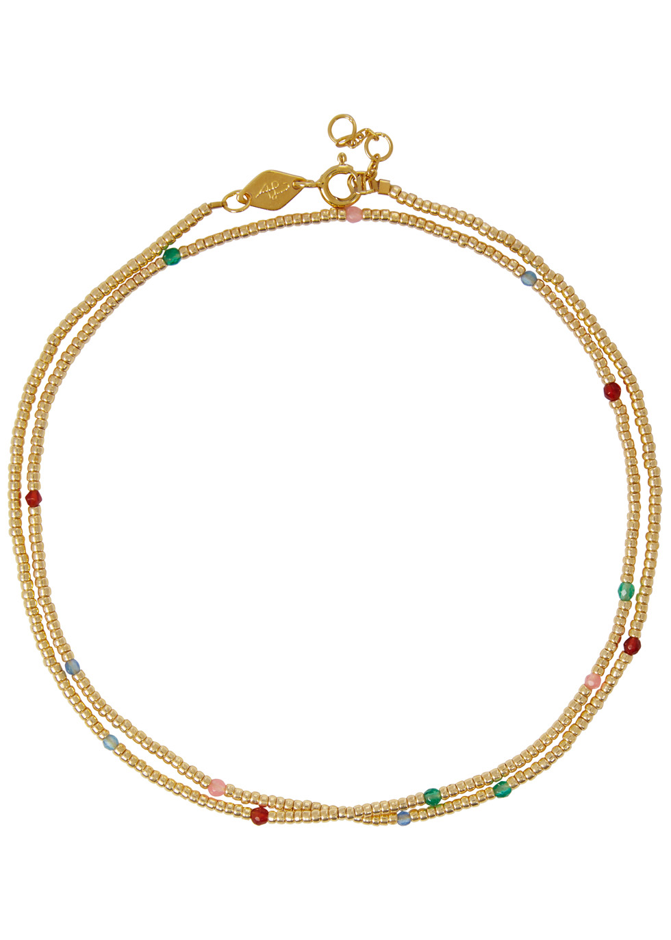 ANNI LU JUVEL 18CT GOLD-PLATED BEADED NECKLACE