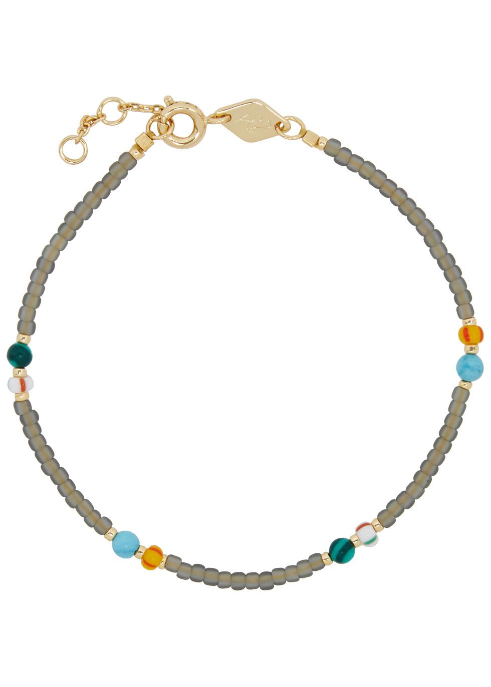 ANNI LU SOHO 18CT GOLD-PLATED BEADED BRACELET