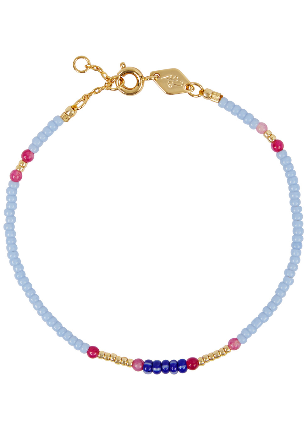ANNI LU PEPPY 18CT GOLD-PLATED BEADED BRACELET
