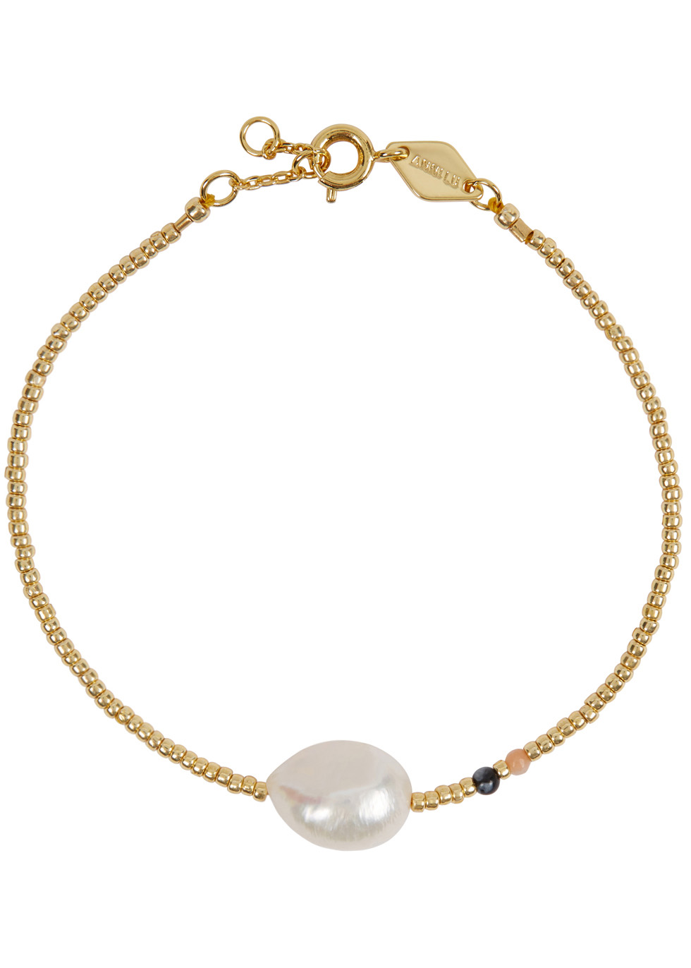 ANNI LU BAROQUE PEARL 18CT GOLD-PLATED BRACELET
