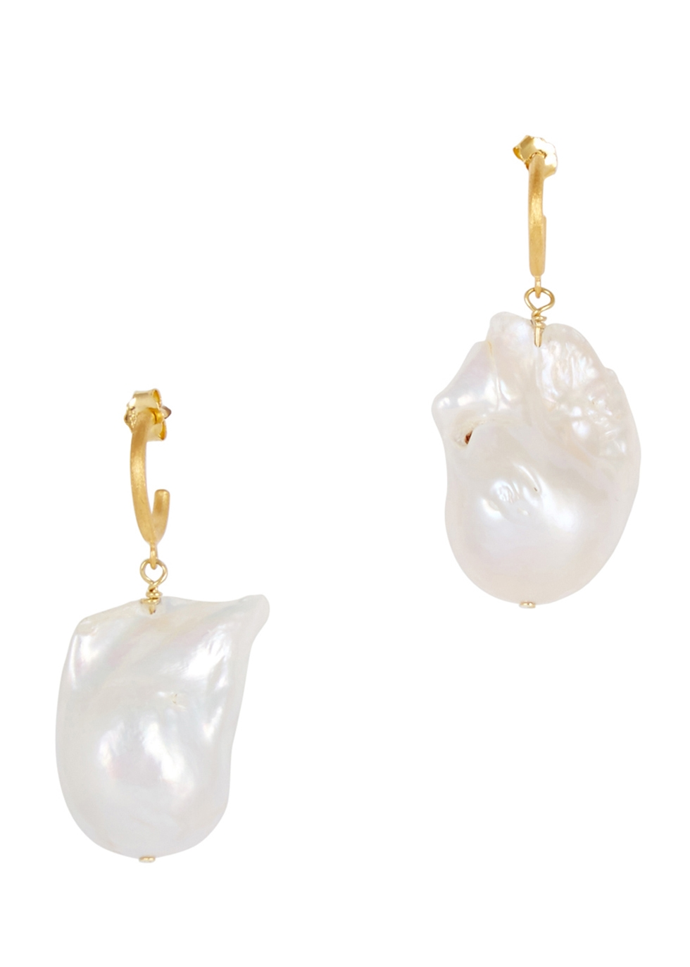 ANNI LU BAROQUE PEARL 18CT GOLD-PLATED DROP EARRINGS