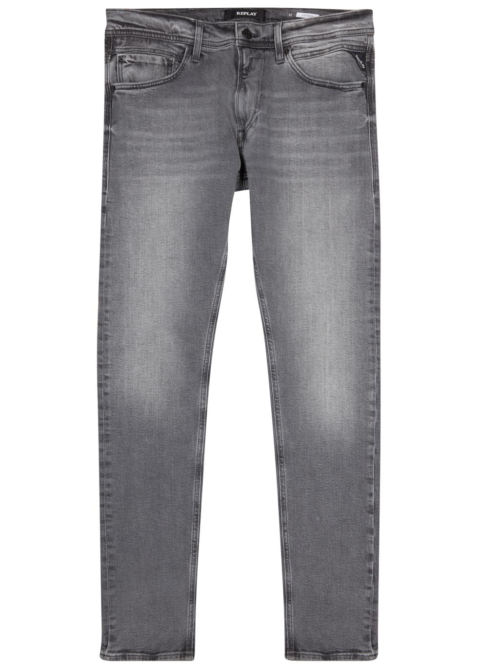REPLAY Jondrill Hyperflex Grey Skinny Jeans