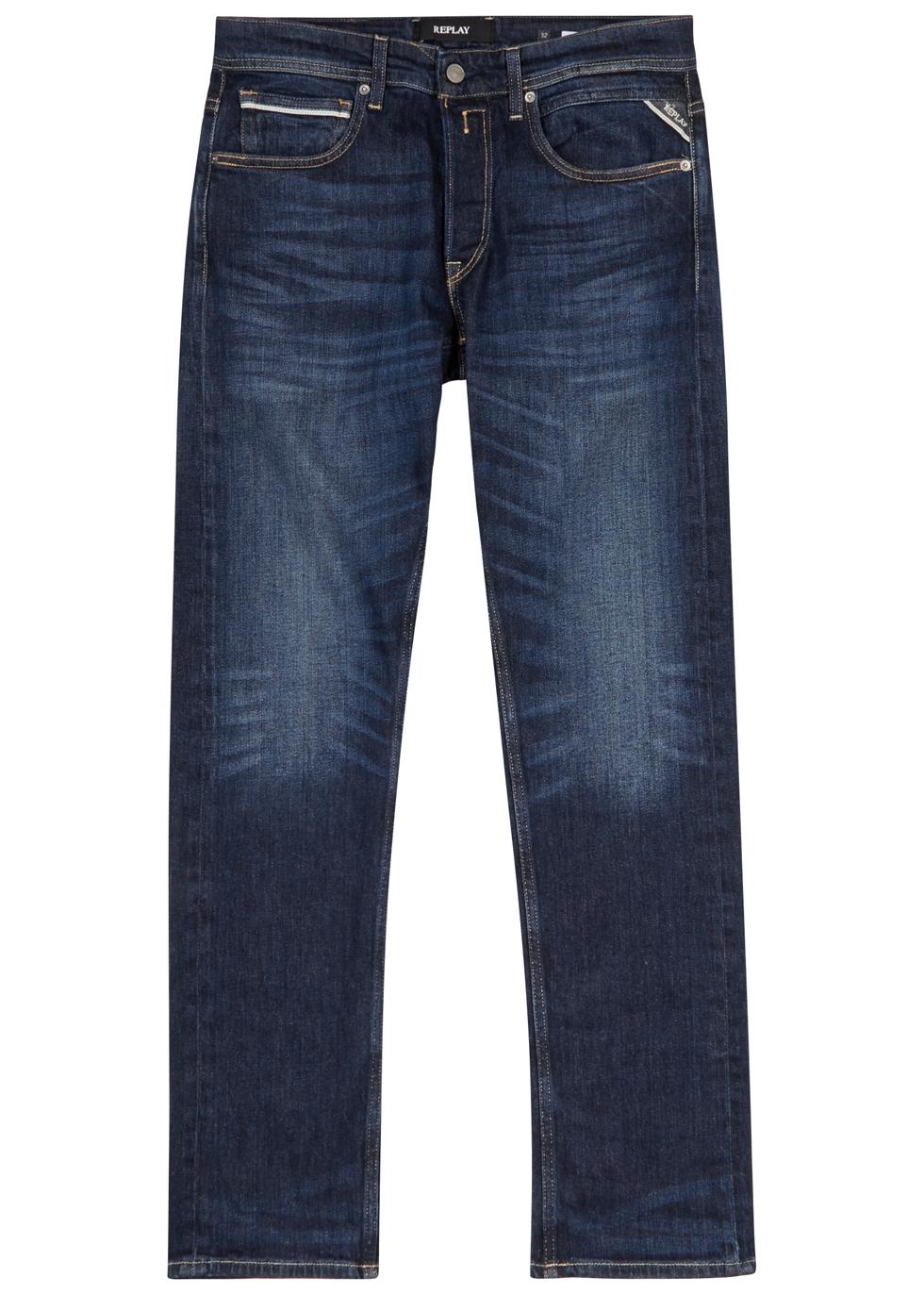 REPLAY Grover Indigo Straight-Leg Jeans