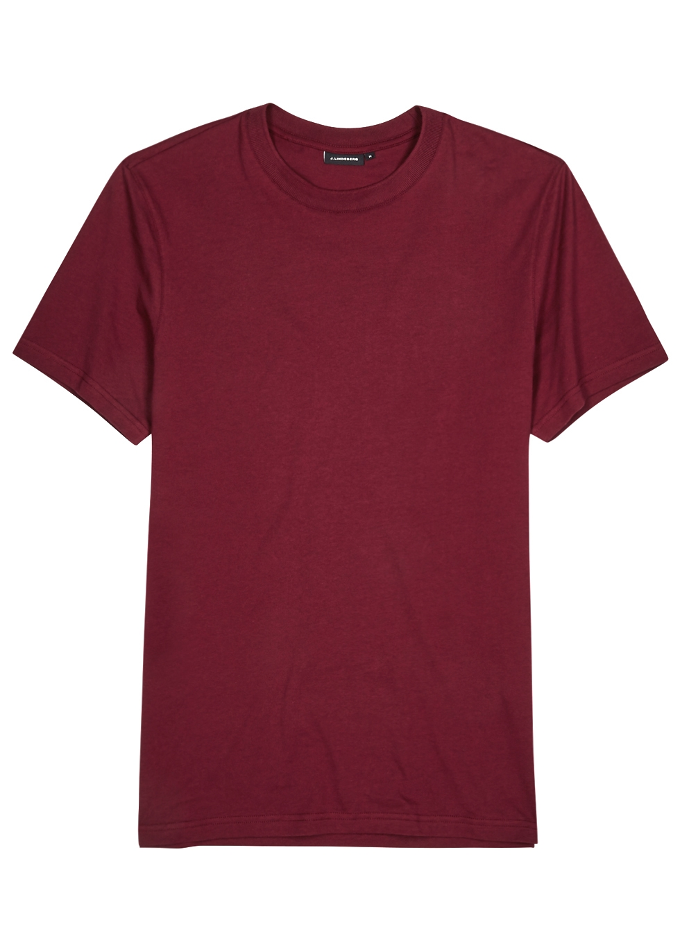 J. LINDEBERG | J.Lindeberg Silo Burgundy Cotton T-shirt | Goxip