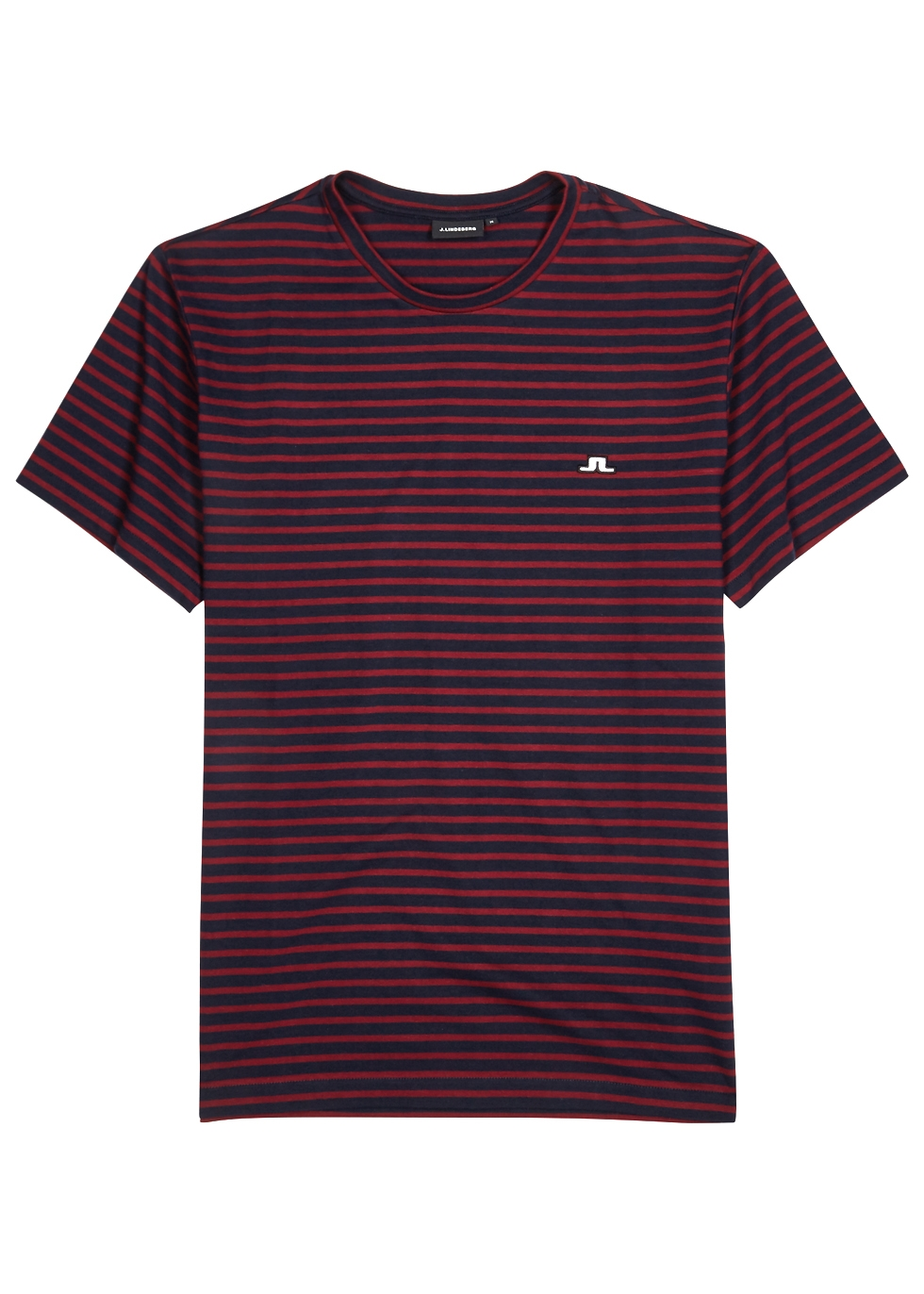 J.LINDEBERG CHARLES STRIPED COTTON T-SHIRT