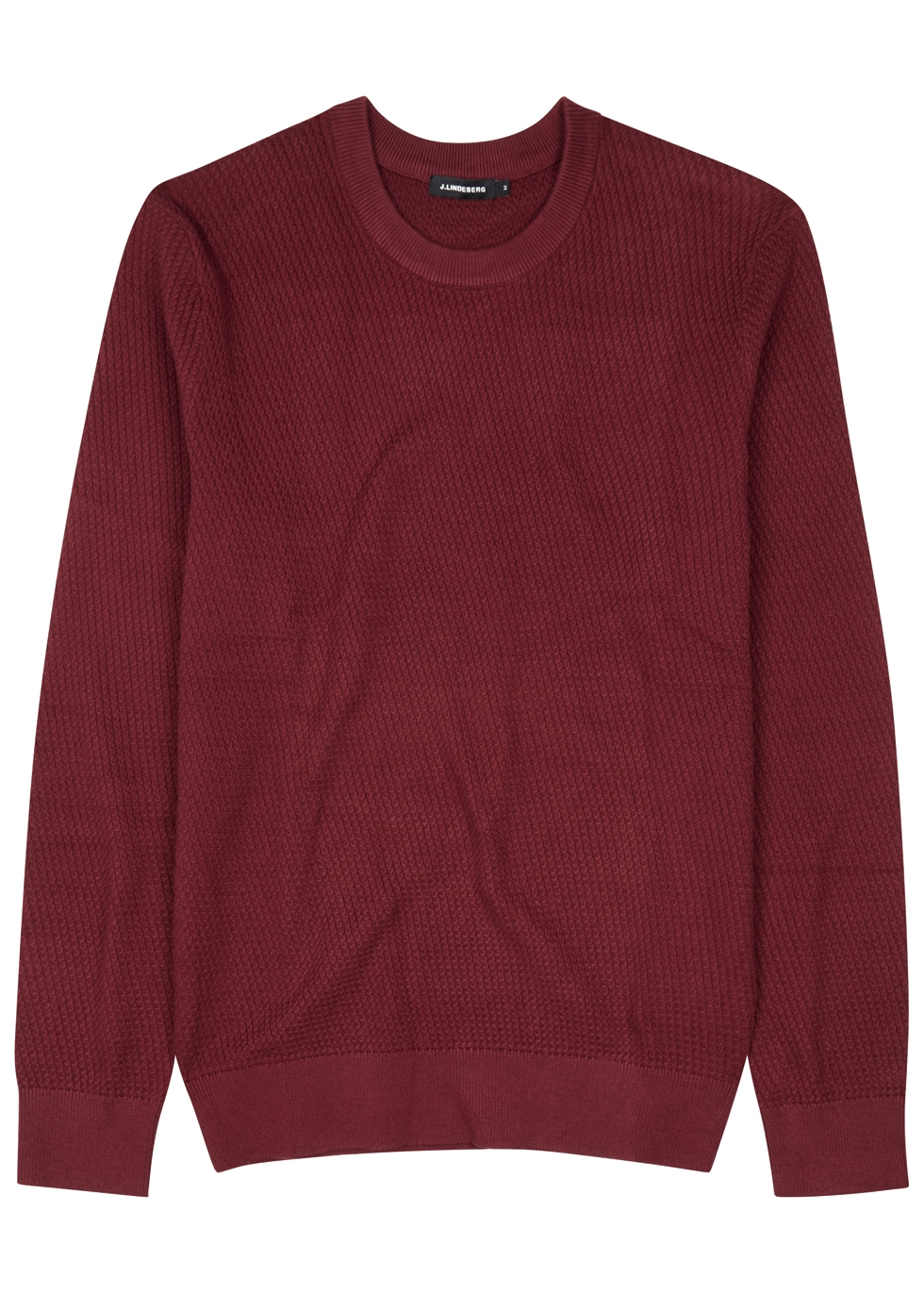 J.LINDEBERG CHESTER WAFFLE-KNIT COTTON JUMPER