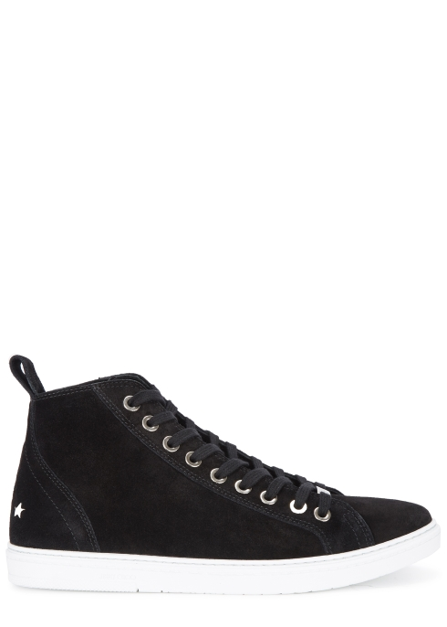 d1b612f0026d1a Jimmy Choo Black suede hi-top trainers - Harvey Nichols