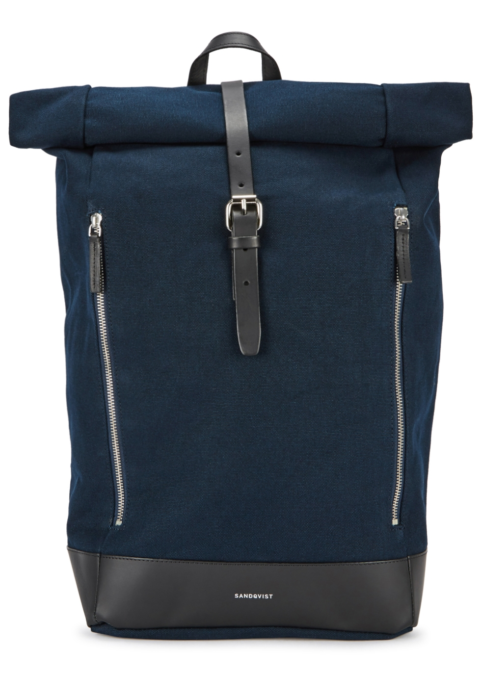 SANDQVIST MARIUS LEATHER-TRIMMED CANVAS BACKPACK