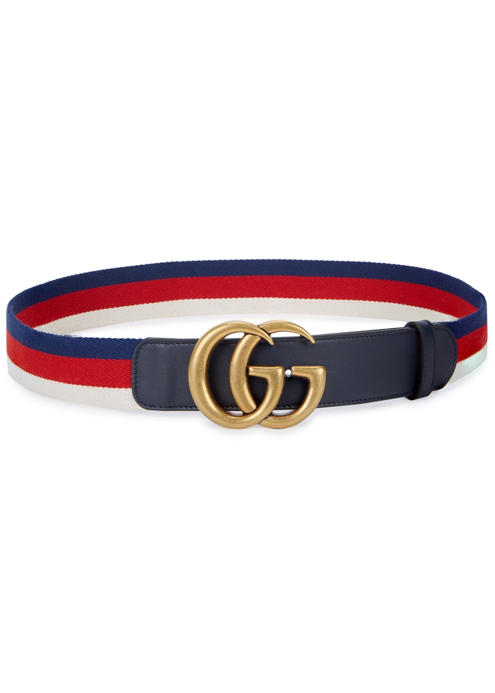 DOUBLE G STRIPED WEB BELT
