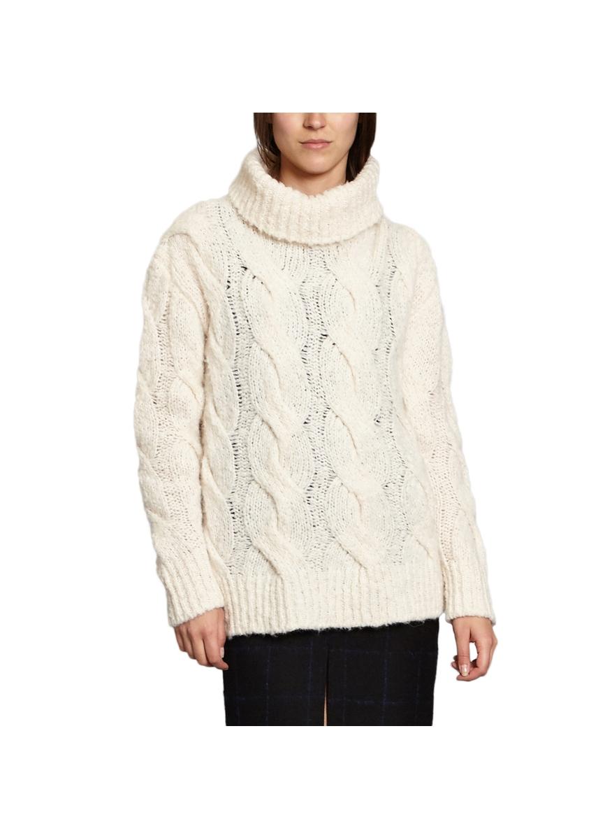 7413365572 Cable knit turtleneck jumper ...
