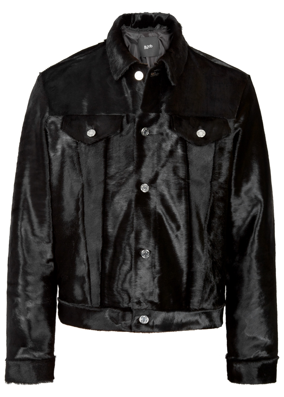 BLOOD BROTHER TURBO BLACK CALF HAIR JACKET