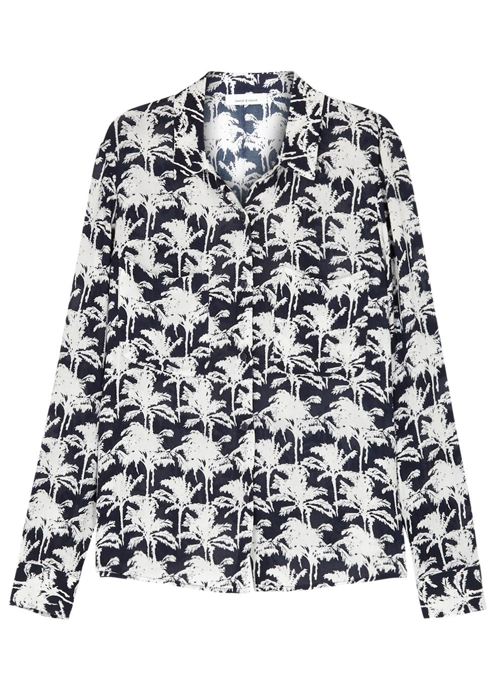 SAMS0E & SAMS0E Milly Printed Jersey Shirt in Blue