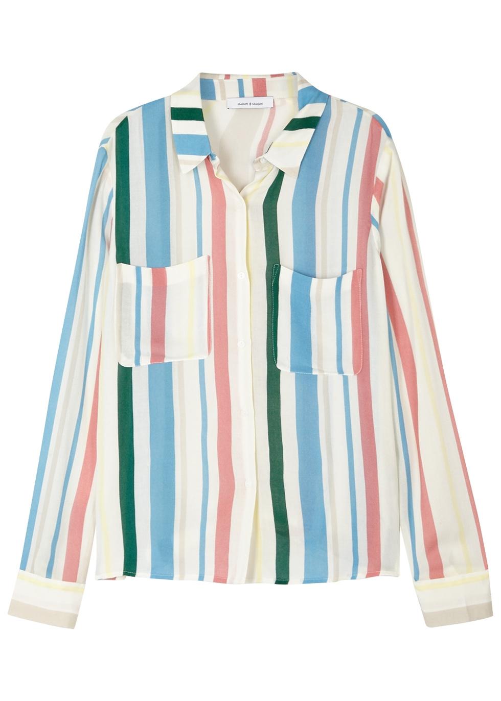 SAMS0E & SAMS0E Milly Striped Jersey Shirt