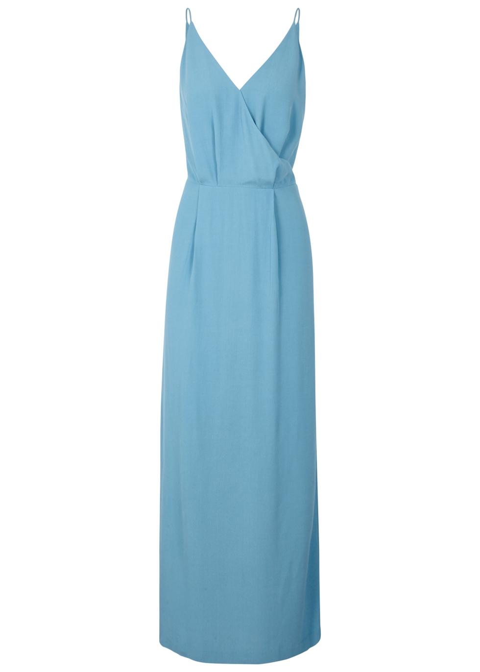 SAMS0E & SAMS0E Ginni Lace-Back Maxi Dress in Blue