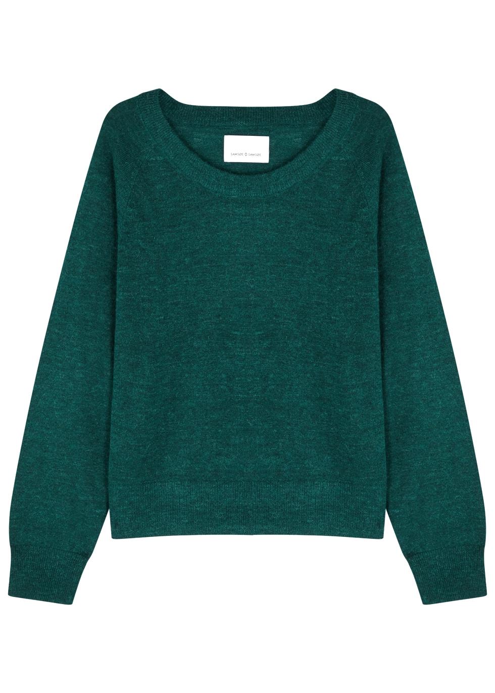 SAMS0E & SAMS0E Lemba Dark Emerald Knitted Jumper in Green