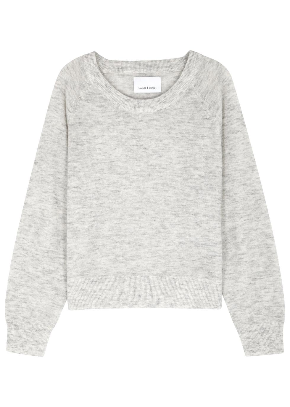 SAMS0E & SAMS0E Lemba Light Grey Knitted Jumper