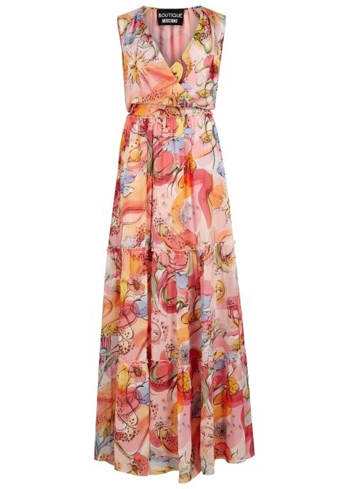 8c6fe2d2fb2 Boutique Moschino Fantasy-print silk chiffon maxi dress - Harvey Nichols