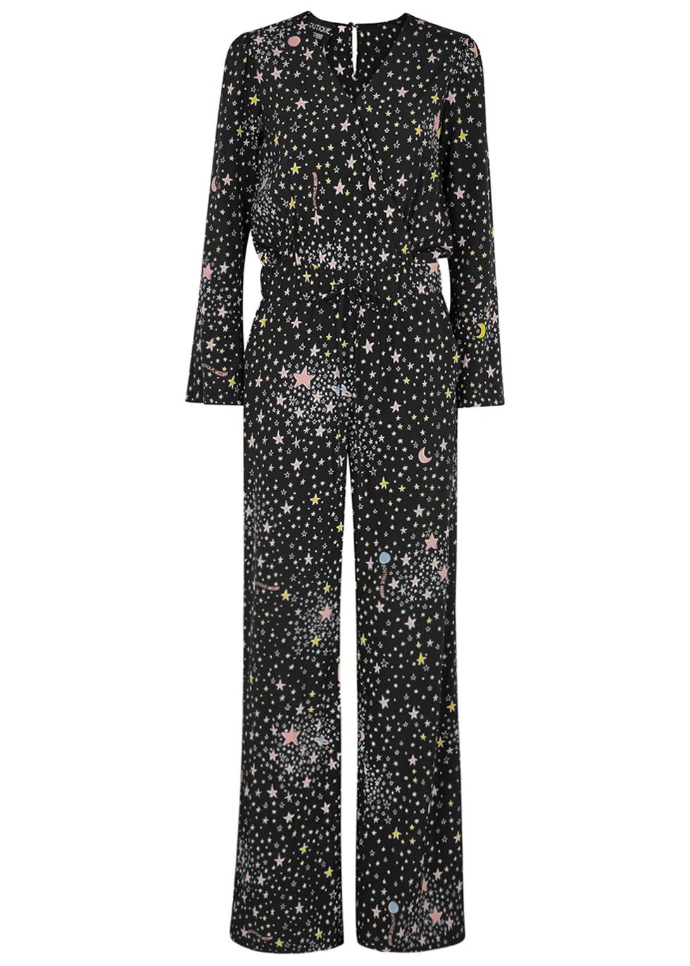 BOUTIQUE MOSCHINO PRINTED STRETCH-SILK JUMPSUIT
