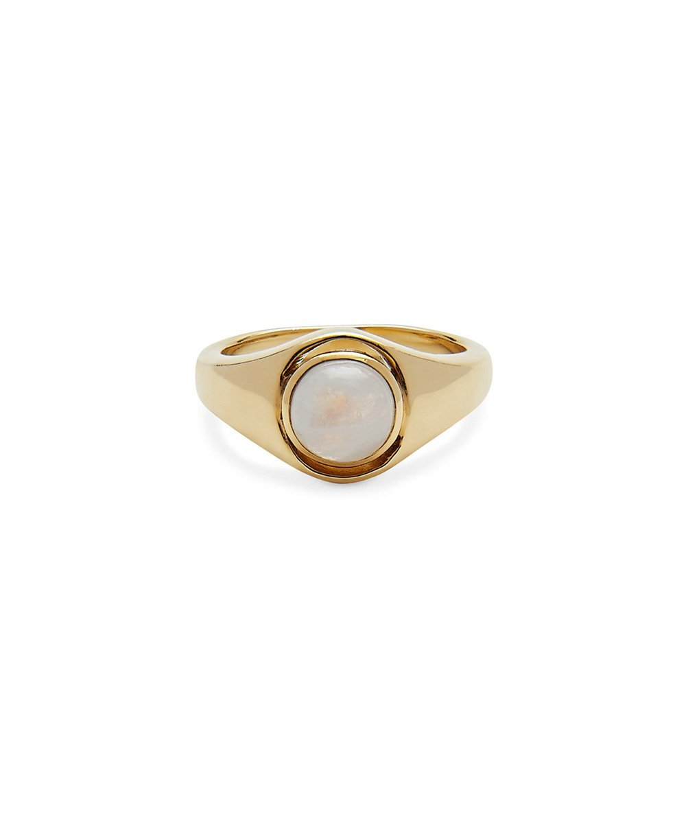 EDGE OF EMBER BEAM MOONSTONE RING