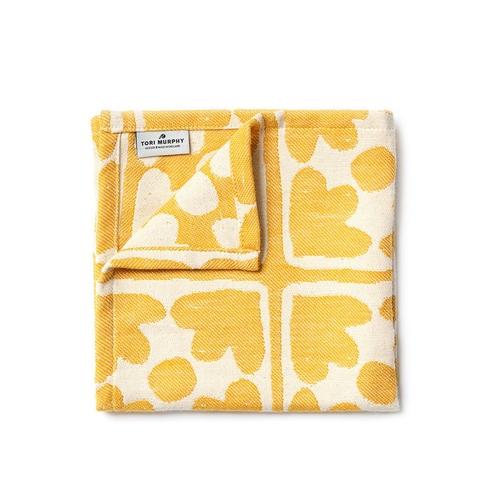 Tori Murphy Bloom Cotton Single Napkin In Mustard thumbnail