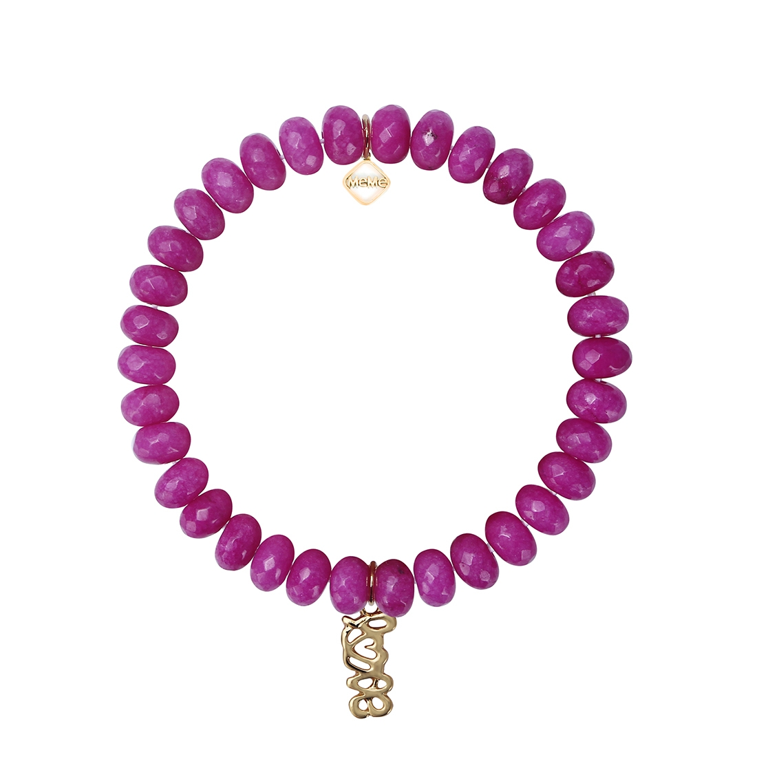 MEME LONDON I HEART YOU - MAGENTA WITH GOLD