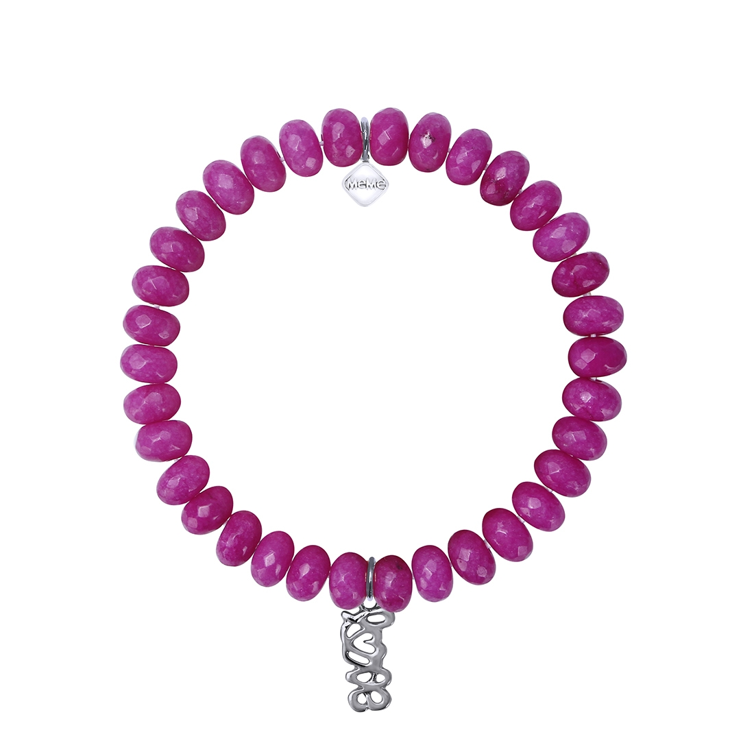 MEME LONDON I HEART YOU - MAGENTA WITH WHITE GOLD