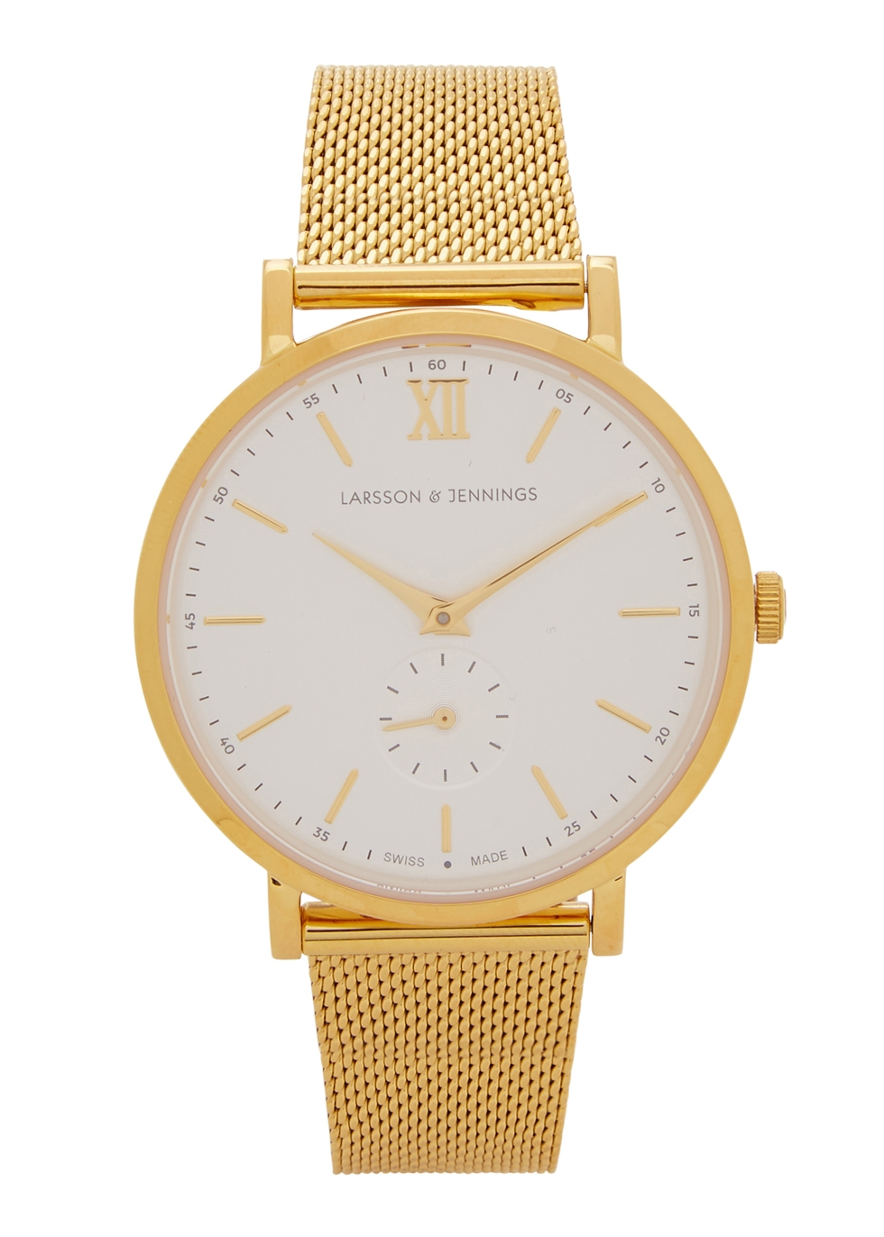 Jura 23ct gold-plated stainless steel watch - Larsson & Jennings