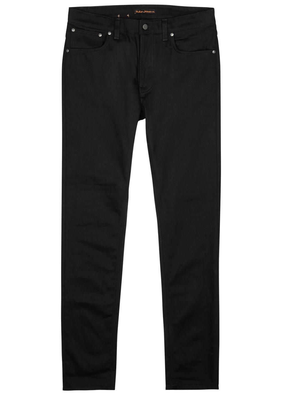 Lean Dean black slim-leg jeans