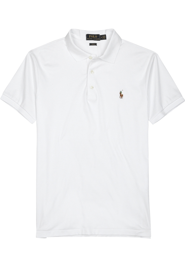 White slim Pima cotton polo shirt White slim Pima cotton polo shirt. Polo  Ralph Lauren 0556d005d0