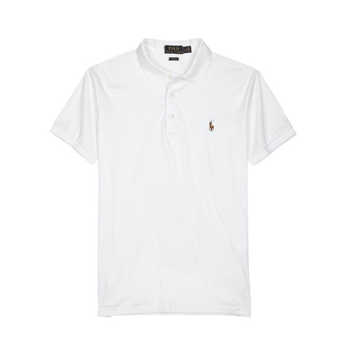 Polo Ralph Lauren White Slim Pima Cotton Polo Shirt