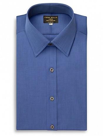 EMMA WILLIS Navy Cristallo Slim Fit Double Cuff Shirt