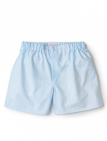EMMA WILLIS Ice Blue Superior - Patchwork Boxer Shorts