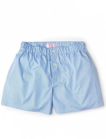 EMMA WILLIS Sky Bengal Stripe - Patchwork Boxer Shorts