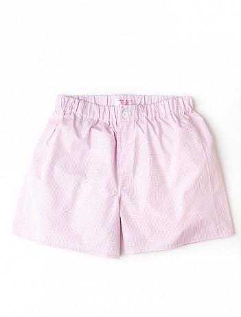EMMA WILLIS Pink Check - Patchwork Boxer Shorts