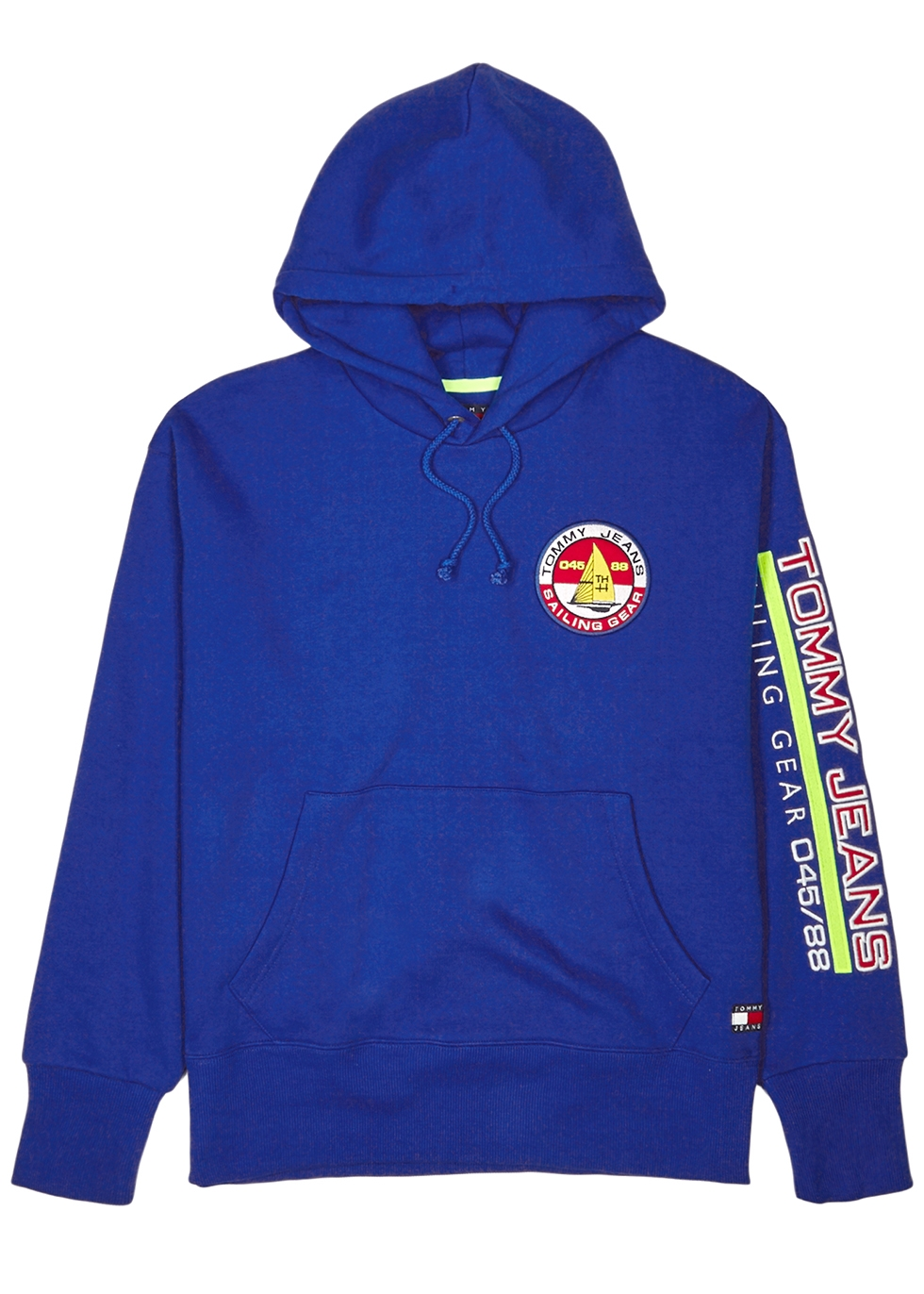 TOMMY JEANS 90S Sailing Capsule Back And Sleeve Logo Hoodie In Bright Blue - Blue