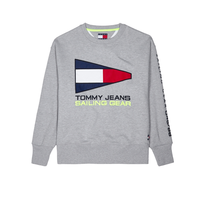 Tommy Jeans Logo-embroidered Cotton-blend Sweatshirt thumbnail
