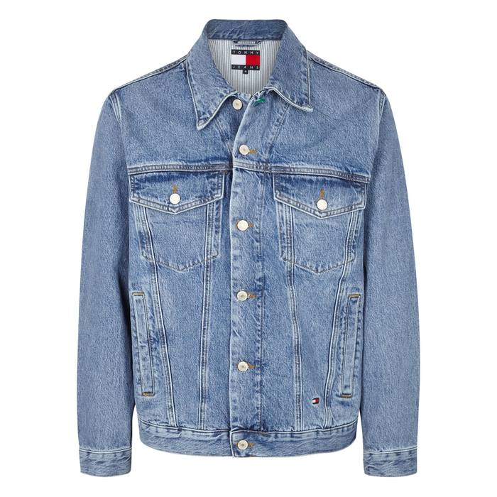 Tommy Jeans Blue Embroidered Denim Jacket thumbnail