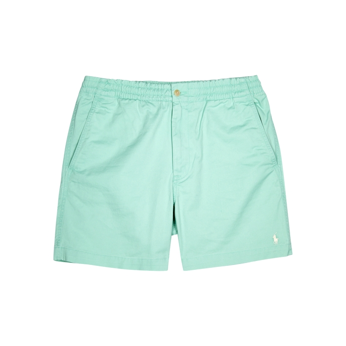 Polo Ralph Lauren Light Green Stretch-cotton Shorts
