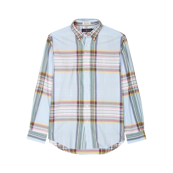 Polo Ralph Lauren Blue Checked Cotton Shirt thumbnail