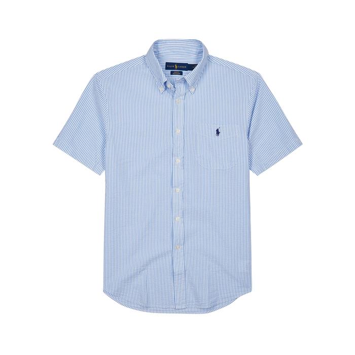 Polo Ralph Lauren Striped Slim Cotton Seersucker Shirt thumbnail