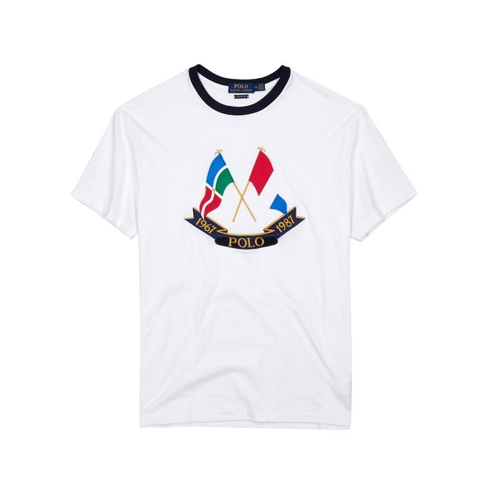 Polo Ralph Lauren White Embroidered Cotton T-shirt thumbnail