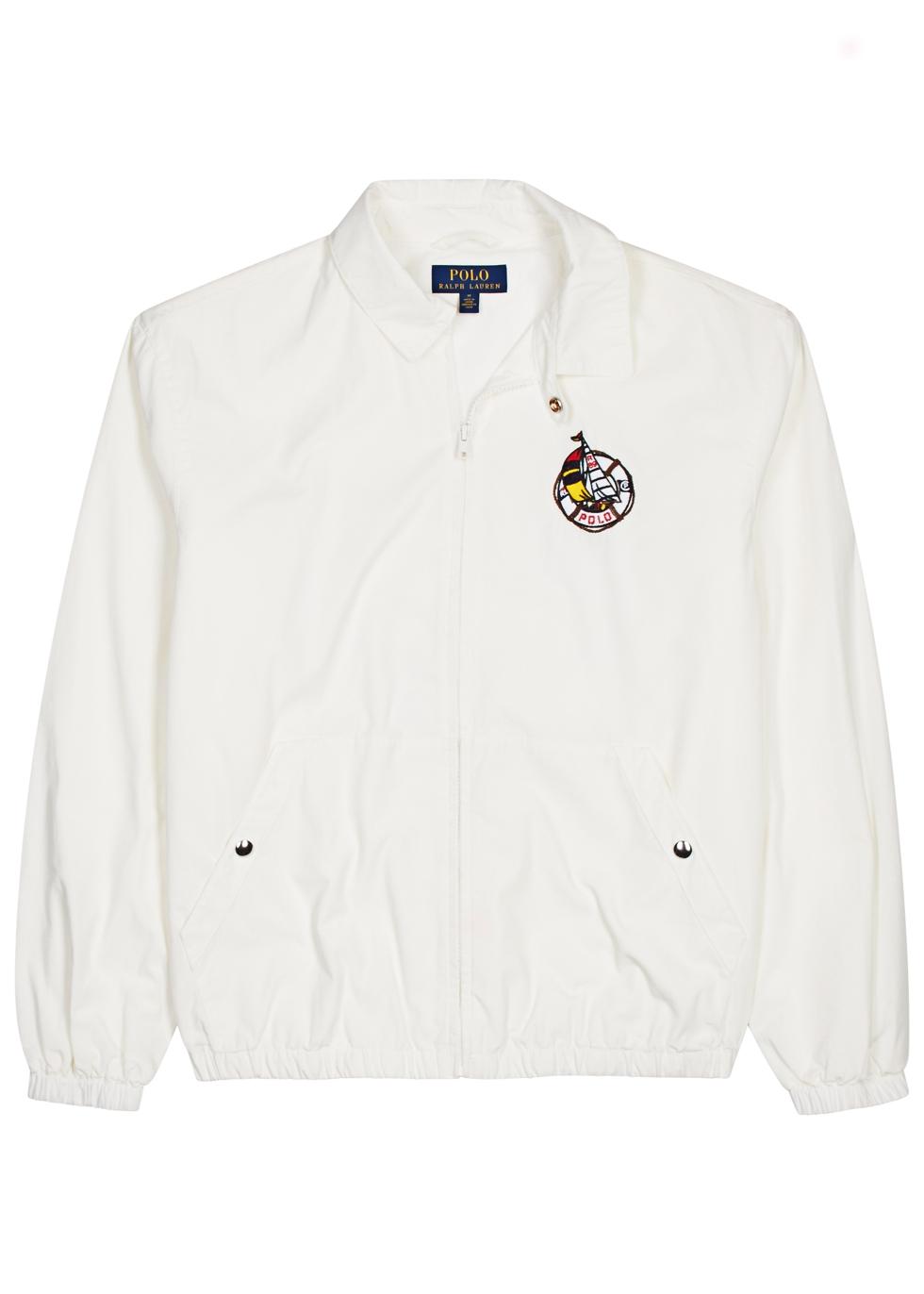 White embroidered cotton jacket White embroidered cotton jacket. Polo Ralph  Lauren. White embroidered cotton jacket